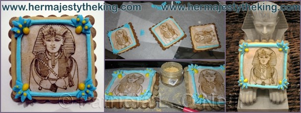 Egyptian Pharaoh cookies