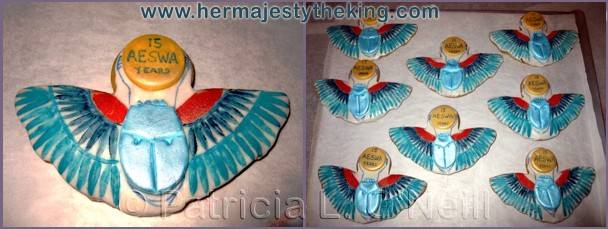 Egyptian winged scarab cookies