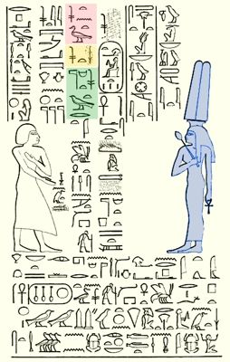Graffito inscribed by Senenmut showing Hatshepsut 